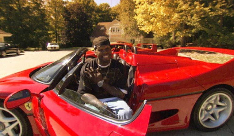 MTV cribs 50 Cent Ferrari