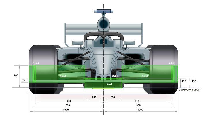 Formule 1 auto technische tekening