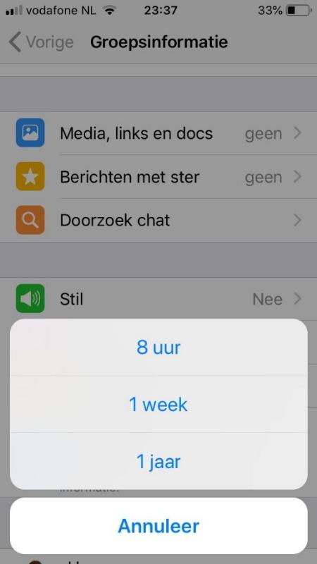 Whatsapp stil dempen