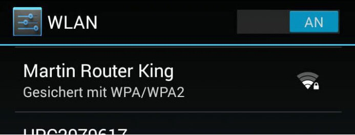 Martin Router King grappigste wifi naam