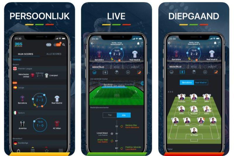 365Scores voetbal app