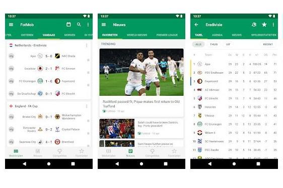 Fotmob voetbal app