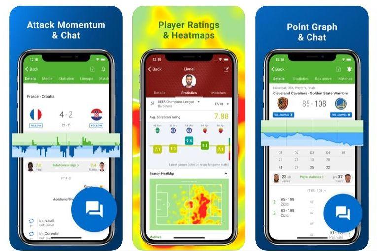 SofaScore voetball app