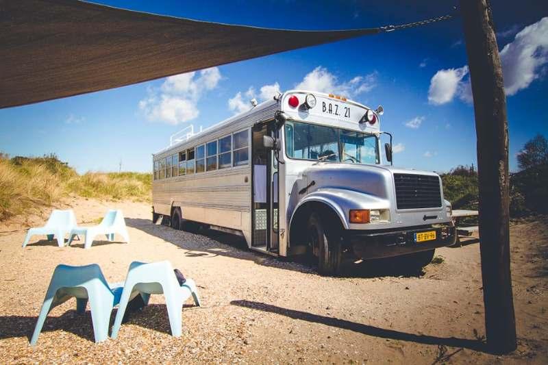 Beachbus camping de Lakens Bloemendaal 1